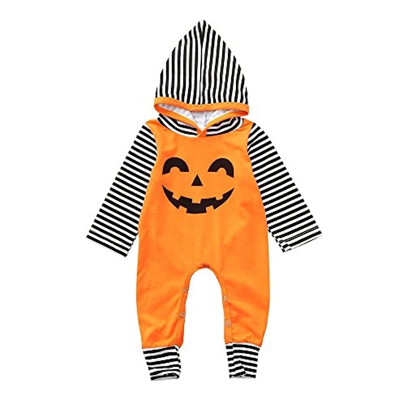 BHKK 子供 幼児少年少女ロングスリーブフード付きロンパージャンプススイートハロウィーンデコレーション服装 6ヶ月 - 24ヶ月 12ヶ月