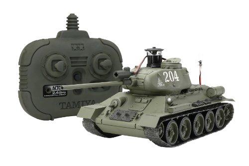 RC ソビエト T34/85 中戦車 (2.4GHzプロポ付) 48210 (1/35 ラジオコントロールタンクシリーズ No.10)