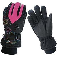 (Baoxinjp) レディース スキーグローブ サイクリング 手袋 冬用 スポーツ手袋 スノーボード GLOVE アウトドア手袋