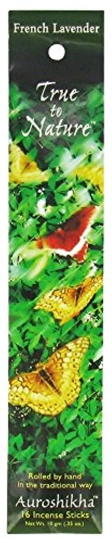 歴史物質オプショナルAuroshikha - 性質の香のフランスラベンダーに調整しなさい - 16棒