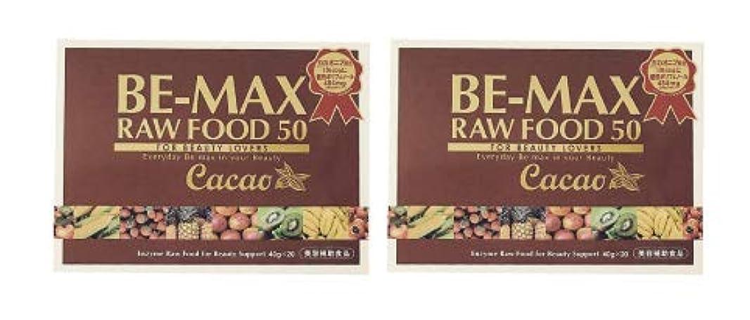 テクスチャーマットモーターBE-MAX RAW FOOD 50 Cacao 2個セット