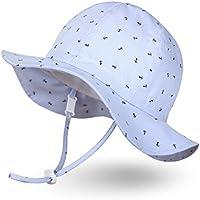 Ami&Li tots Unisex Child Adjustable Wide Brim Sun Protection Hat UPF 50 Sunhat for Baby Girl Boy Infant Kids Toddler