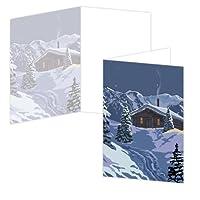 ECOeverywhere Big Skyキャビンボックス版カードセット、12カードと封筒、4x 6-inches、マルチカラー( bc11772)