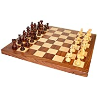StonKraft 16(Wood) Non-Folding Professional Tournament Collectible Rosewood Chess Game Board Set + Wood Crafted Pieces (Delivered Within 7 Days) by StonKraft [並行輸入品]