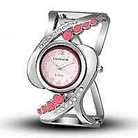 MOZISEN スタイリッシュな時計 時計クォーツ時計のブレスレットの腕時計女性の腕時計カントリーファッション生徒のテーブル 美しい時計 (Color : 2)