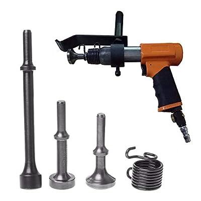 SODIAL 3Pcs Smoothing Pneumatic Air Hammer Bits Long Bit Tool &1 X Spring Tire Repair