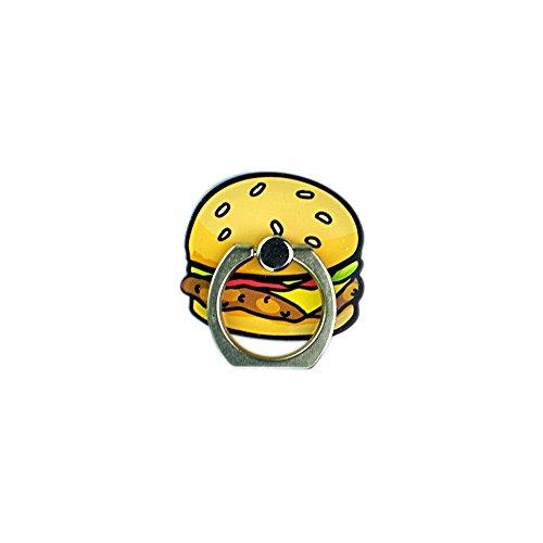 スマホリングスタンド 可愛い食物シリーズ リングホルダー ダブレット 下落防止 IPPON (イッポン) Ring/Holder/Stand 種類:ポーチドエッグ・ハンバーグ (ハンバーグ)