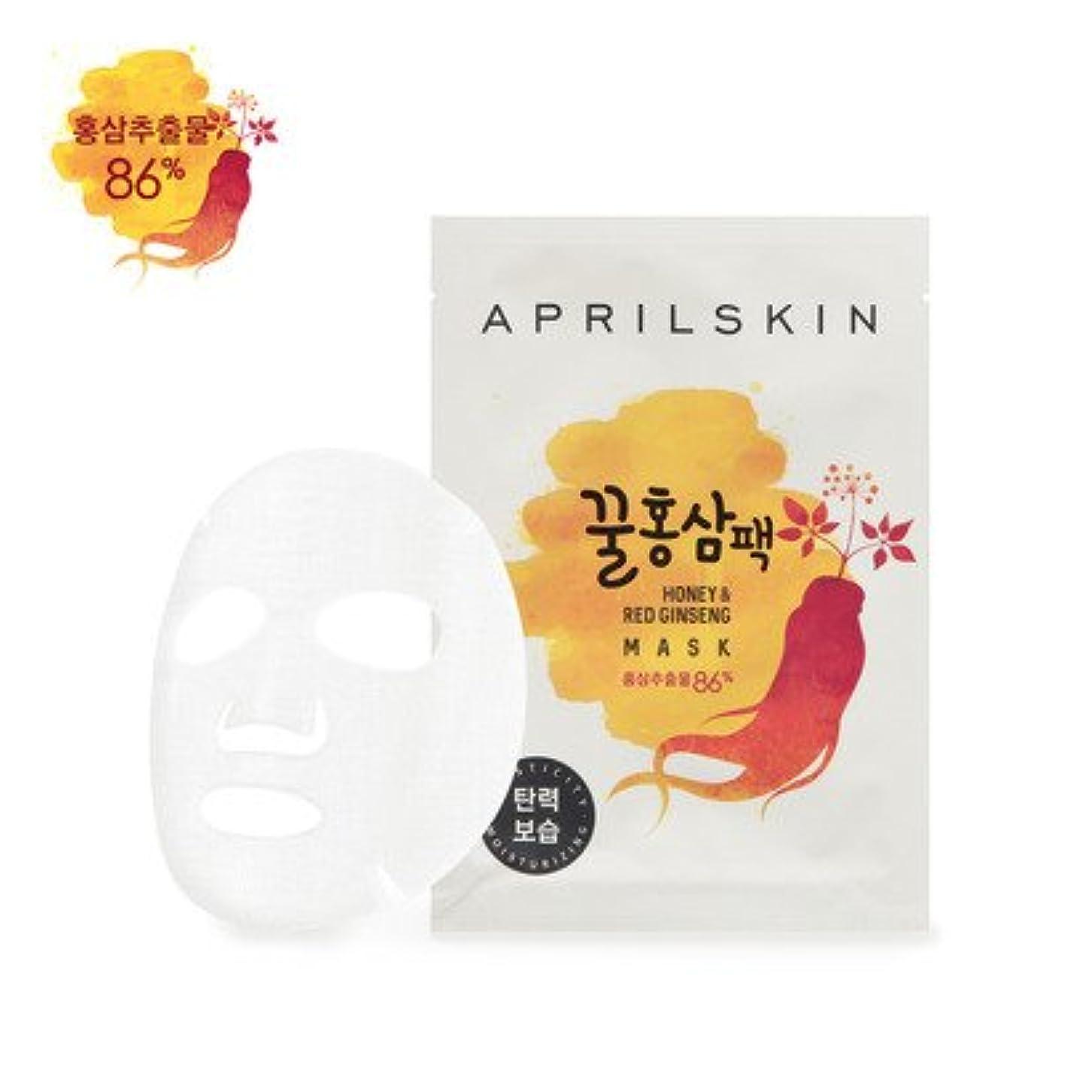 冒険液化する有罪APRILSKIN Honey & Red Ginseng Mask 25g × 10EA/エイプリルスキン ハニー&紅参 マスク 25g × 10枚 [並行輸入品]