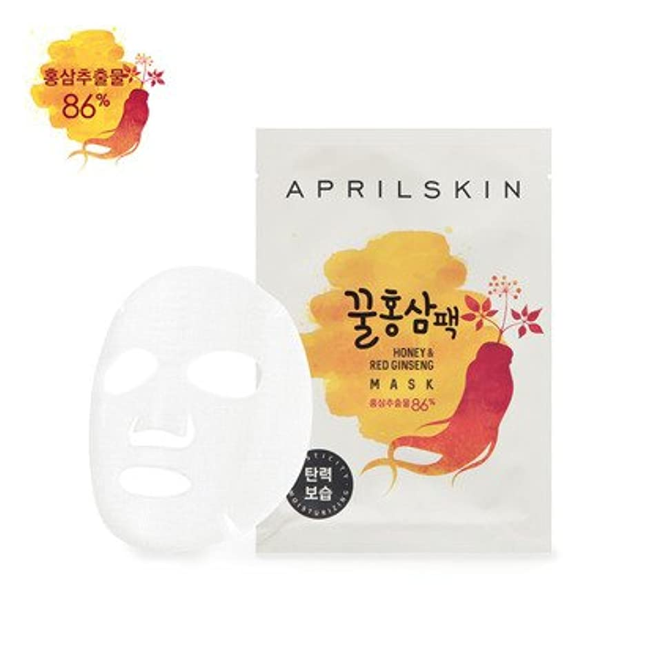 民主主義ミシン大事にするAPRILSKIN Honey & Red Ginseng Mask 25g × 10EA/エイプリルスキン ハニー&紅参 マスク 25g × 10枚 [並行輸入品]