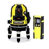 Firecore 5ライン レーザー墨出し器 FIR411R 高輝度 回転レーザー線 レーザーレベル