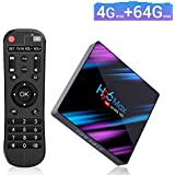 EstgoSZ Android 9.0 TV Box, H96 MAX RK3318 4GB+64GB Quad-core 4K Smart TV Box, Support 2.4G/2.5G Dual WiFi/Bluetooth/USB 3.0/3D/AV/HDR