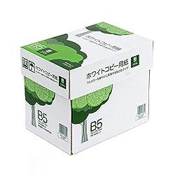 サンワダイレクト コピー用紙 B5 500枚×5冊 2500枚 高白色 300-CP1B5
