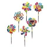 Baoblaze 10個パック 風車 花形風車 ピンホイールおもちゃ 芝生 ガーデン装飾 おもちゃ 全7色 - #3