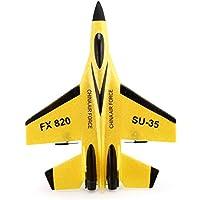 FX FX-820 2.4G 2CHリモートコントロールSU-35グライダー290mm Wingspan EPPマイクロ屋内RC固定翼飛行機航空機UAV RTF(色:黄色)