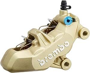 brembo(ブレンボ) 4ピストンキャリパー  右 ゴールド 4POT・キャスティング(鋳造)タイプ・4PADタイプ 20.7850.21