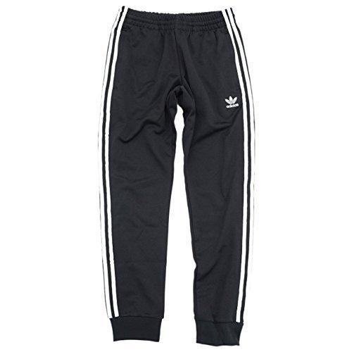 (アディダス) adidas ジャージー パンツ メンズ スーパースター トラック ジャージパンツ オリジナルス サイズL ブラック/ホワイト