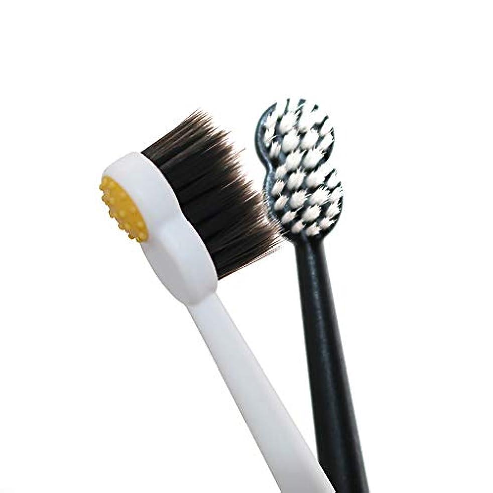 スタジアム協力する傷つきやすい歯ブラシ 8 Wordの小さなブラシヘッド歯ブラシ、大人竹炭歯ブラシは、敏感な歯を向上 - 6パック KHL (サイズ : 6 packs)