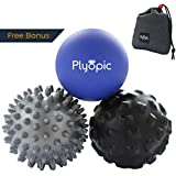 Top 3 Massage Balls Set – Lacrosse, Spiky and Foam Roller Massager Balls | For Deep Tissue Massage, Self Myofascial Release, Trigger Point Therapy, Physio, Plantar Fasciitis Relief. Eliminate Muscle Pain: Back Neck Foot | Ships from Australia