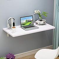 折りたたみテーブル簡単な世帯のテーブルの壁のテーブルの壁の掛かるコンピュータテーブルの壁取付けられた調査のテーブル、60cm (23.6) X40cm (15.7 in),White