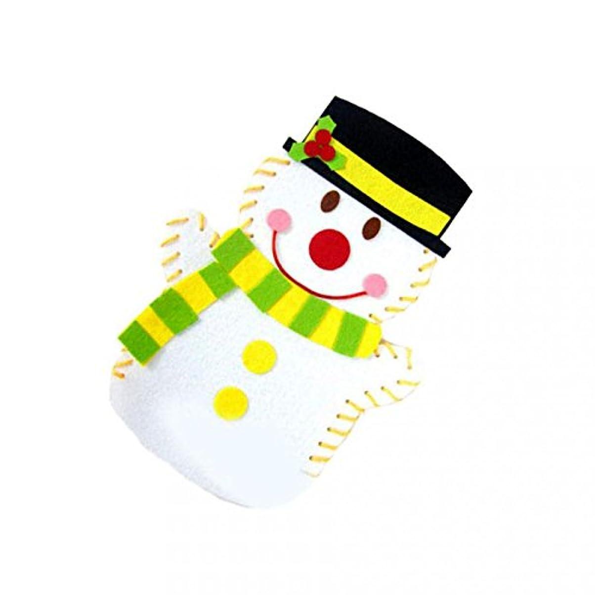 熱心な印象貫入知育玩具 ファミリーゲーム 子供 雪の男 人形 DIYのおもちゃ クリスマスギフト 不織布 就学前教育