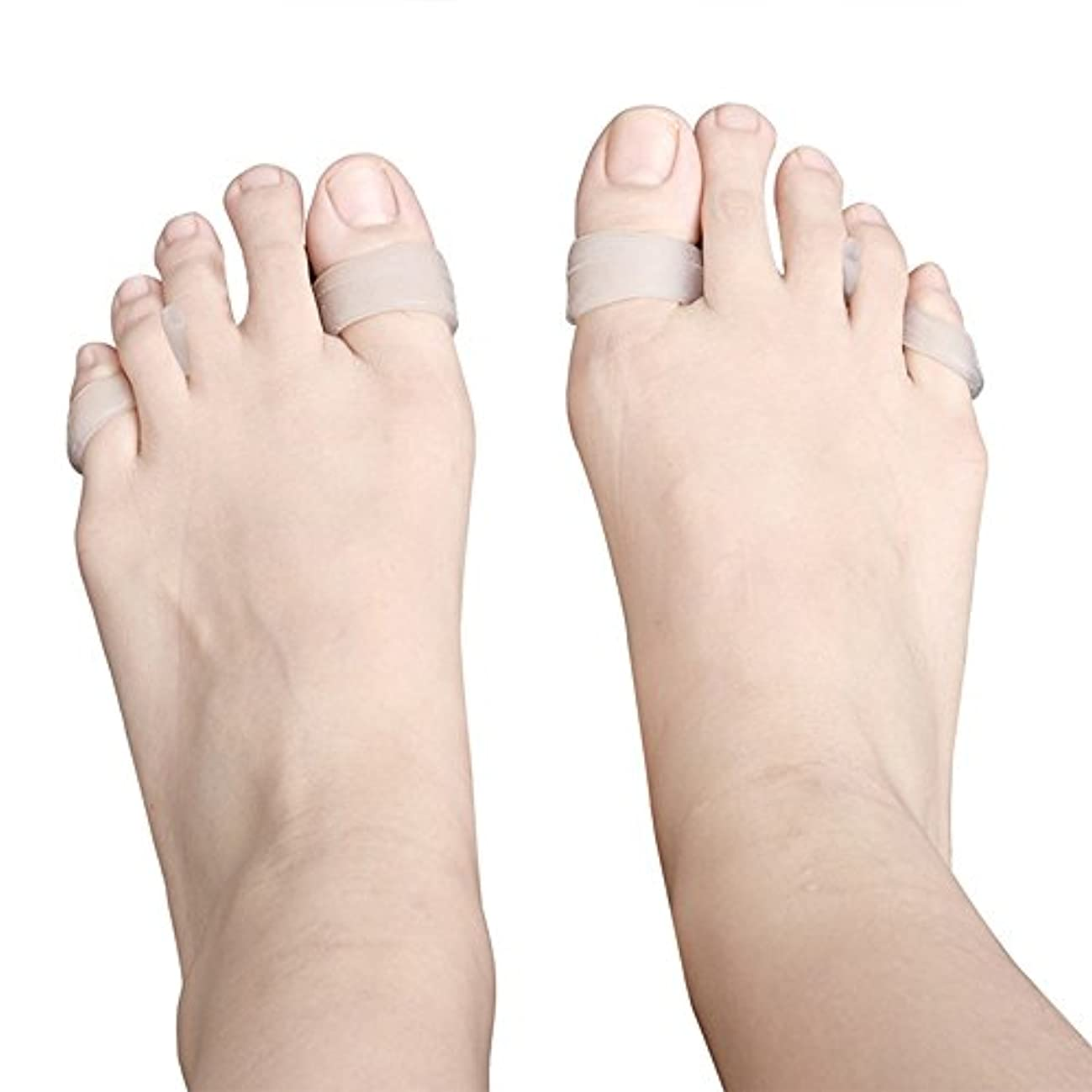 タイトファンドリーガン5ペアつま先セパレーター外反母趾重複矯正分離スペーサーヨガハンマーつま先ストレッチャーシリコーン,A