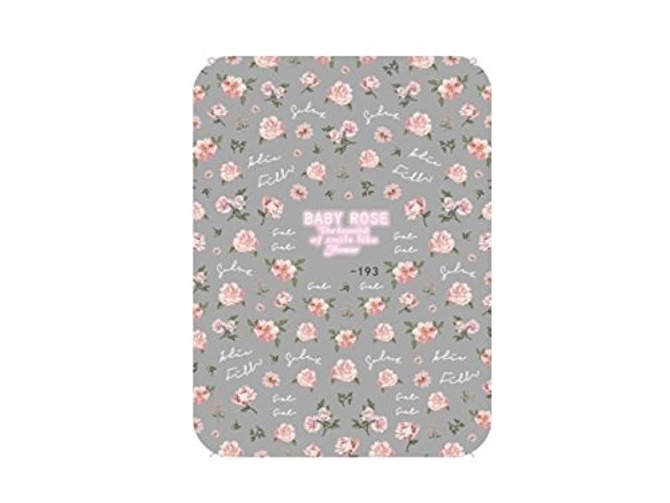 ゆでる泣くバンジョーOsize ファッションカラフルな花ネイルアートステッカー水転送ネイルステッカーネイルアクセサリー(カラフル) (色 : Colorful, サイズ : 9x14.5cm)