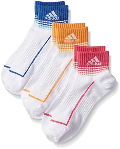 (アディダス)adidas レディースソックス3P 吸水抗菌トップカラーショート 3134-32E 001 アソート 001 23cm