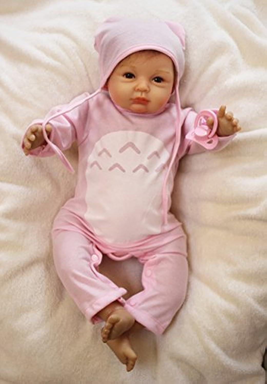 愛らしいシリコンFake Babies So Real Lifelike人形Reborn Girl新生児の女性Nurseryトレーニング玩具、20インチ