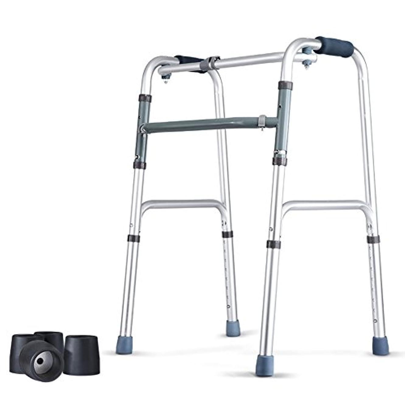 荒野ベッド不正直QFFL ウォーキングスティック4フィート折りたたみウォーキングウォーラー使用不可能な高齢者スツール松葉杖4色使用可能 松葉杖ウォーカー (色 : A)