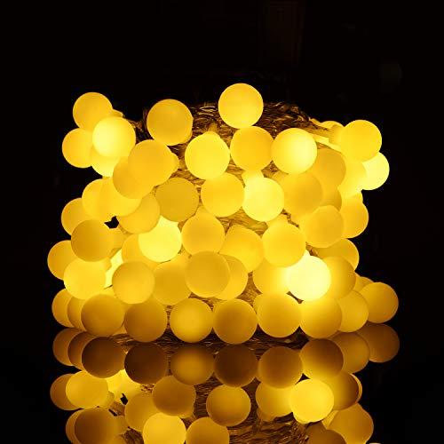 ストリングライト Sunnest 飾り用LEDイルミネーションライト 電池式 10m 80球 (ホワイト)