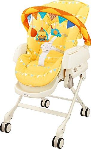 コンビ ベビーラック ネムリラjoy EF サーカスイエロー 新生児~4才頃まで対象 トイバー付き