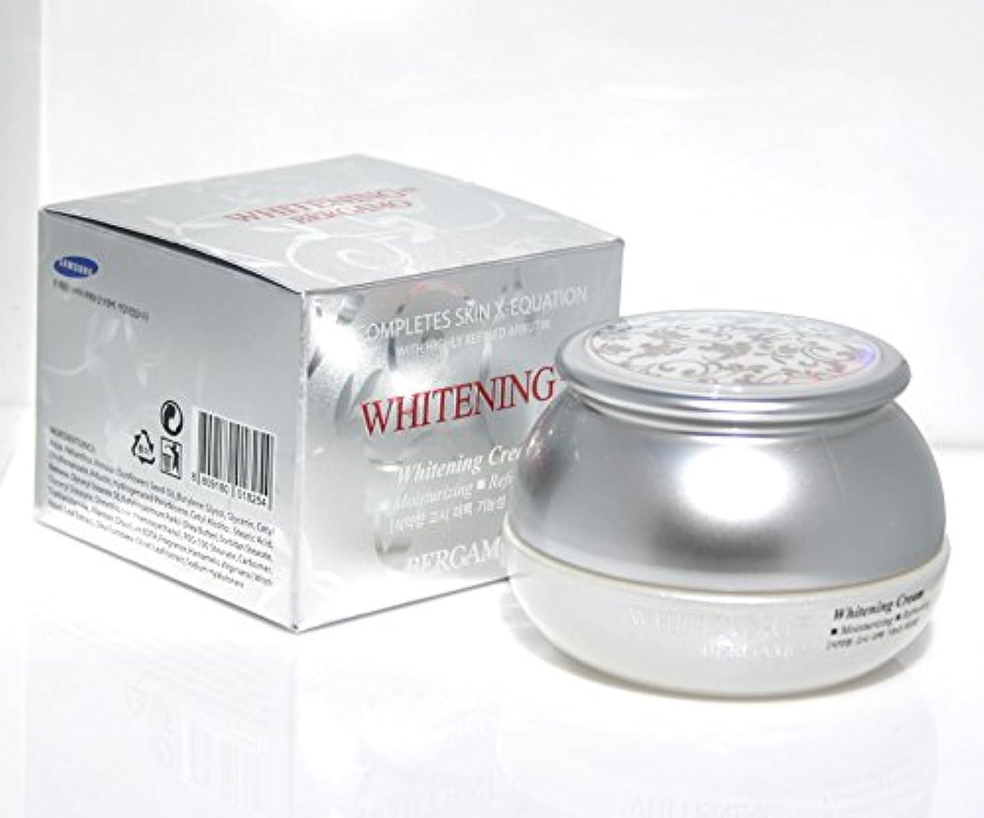 人柄愛されし者特権【ベルガモ][Bergamo]  は、高度に精製アルブチンホワイトニング例クリーム50g /  Completes Skin X-equation with Highly Refined Albutin Whitening...