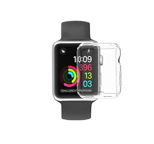 vieel Apple Watchシリーズ2ケース、misxi Iphone Watch 2TPUスクリーンプロテクターオールラウンド0.3MM超薄型カバー ホワイト iWatch.01-369