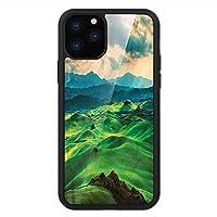iPhone 11 Pro Max 用 強化ガラスケース クリア 薄型 耐衝撃 黒 カバーケース トスカーナ トスカーニ・ローリング・ヒルズ iPhone 11 Pro 2019用 iPhone11ケース用