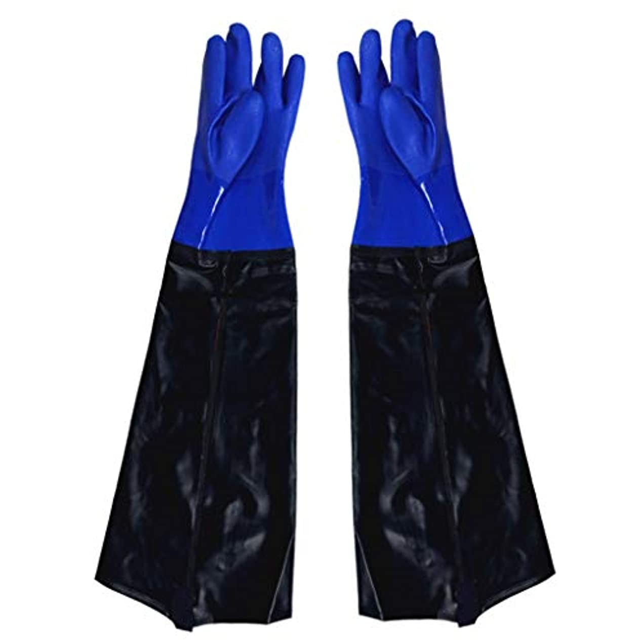 正当化するにんじん大邸宅ゴム手袋 - 漁業に強い耐久性のある酸とアルカリを広げることを長くすること