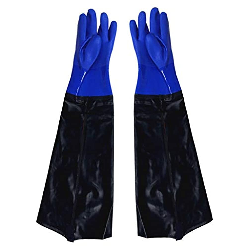 フレームワーク不条理報酬ゴム手袋 - 漁業に強い耐久性のある酸とアルカリを広げることを長くすること