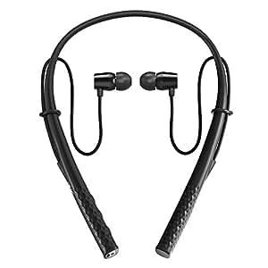 ブルートゥースイヤホン TaoTronics Bluetooth イヤホン 磁気型 ヘッドホン ネックバンド型 CVC6.0ノイズキャンセリング搭載 高音質ステレオサウンド IPX5防水 10時間連続再生 調整可能コード TT-BH23