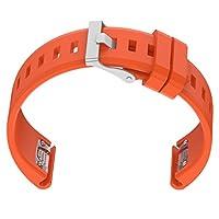 Homyl ウォッチバンド Garmin Fenix 5適 長さ調整 シリコン材 5色選べる - オレンジ