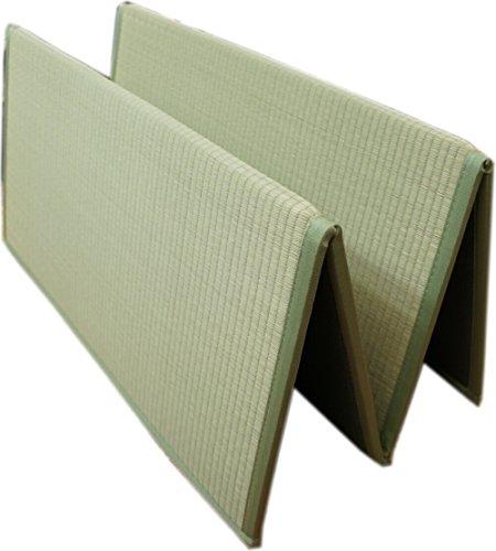 折りたためるユニット畳:1畳サイズ(80x160cm) ナチュラル色 コンパクト収納で、持ち運びに便...