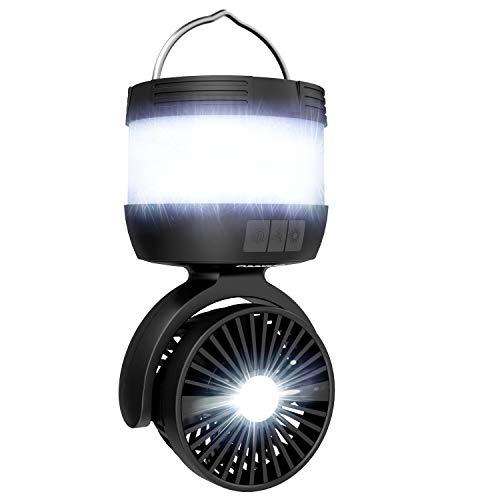 enkeeo 1台4役 LEDランタン LEDライト ミニ扇風機 モバイルバッテリー 超コスパ USB充電 3点灯モード 3段階風量 4000mAh大容量 軽量 コンパクト キャンプ 震災用品 停電対策などに SB-6068【メーカー保証】