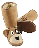 Dog Toasty Toez Cute Animal Character Slippers for Kids by LazyOne | Boys and Girls Creature Slipper Boots (X-Small) [並行輸入品]