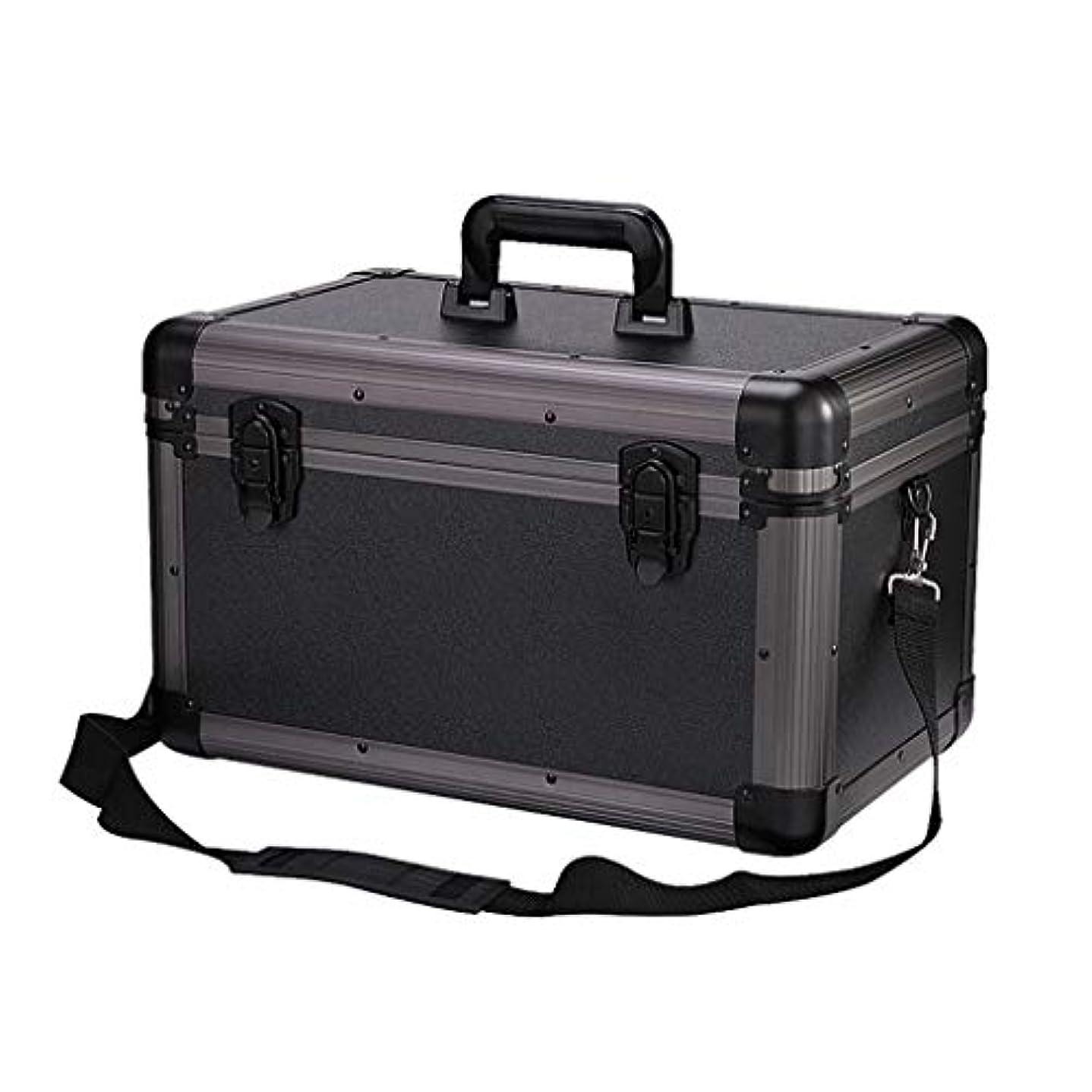 好色なアリ教義NYDZDM 家庭用医療箱、2層健康応急処置ケース、金属緊急キット収納ボックス、ロック応急処置キット (Color : Black)