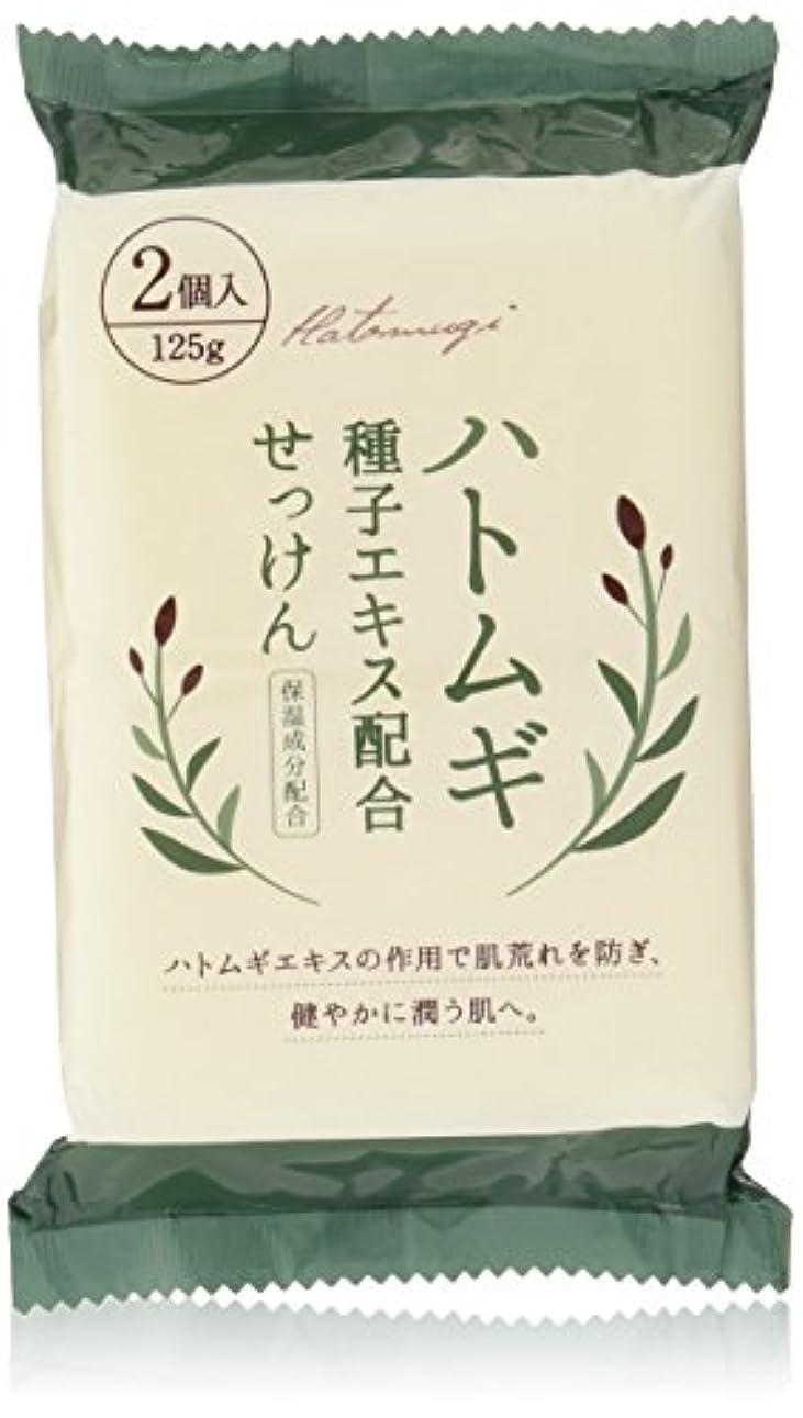 手入れ印をつけるビジネスハトムギ種子エキス配合石けん 125g*2コ入
