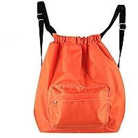 MXIKU スイミングバッグドライウォーターセパレート防水、サーフィン、温泉、旅行、ハイキング、キャンプ、アウトドアスポーツドローストリングショルダーバッグ (Color : オレンジ)