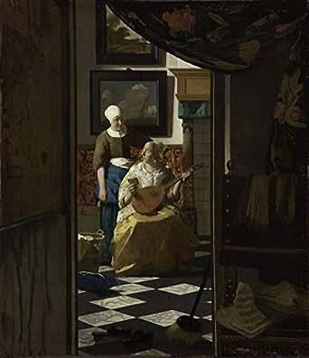 絵画風 壁紙ポスター (はがせるシール式) ヨハネス・フェルメール 恋文 1669-70年 アムステルダム国立美術館 キャラクロ K-JVM-031S2 (511mm×594mm) 建築用壁紙+耐候性塗料