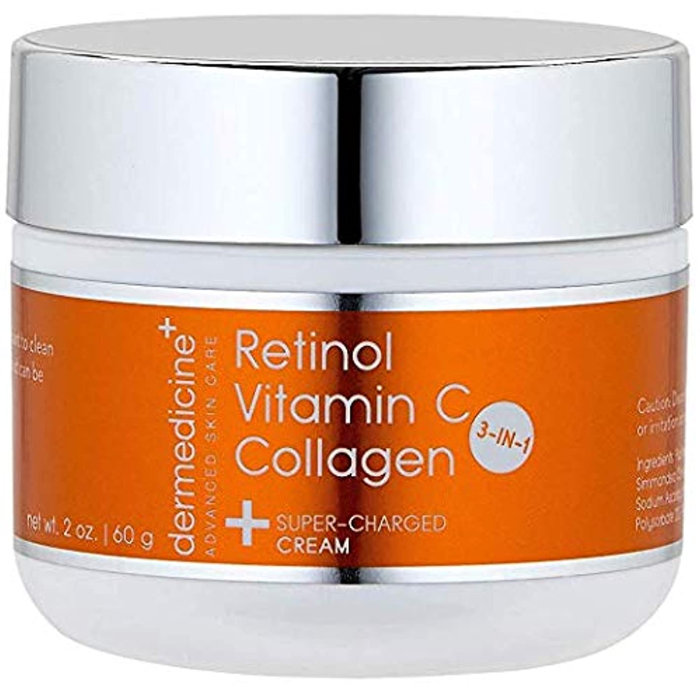 カレッジ物理的にリッチプレミアム エイジングケアクリーム【3IN1】 コラーゲン+レチノール+ビタミンC配合 60g シミ&シワ対策、若々しい弾力のある肌へ