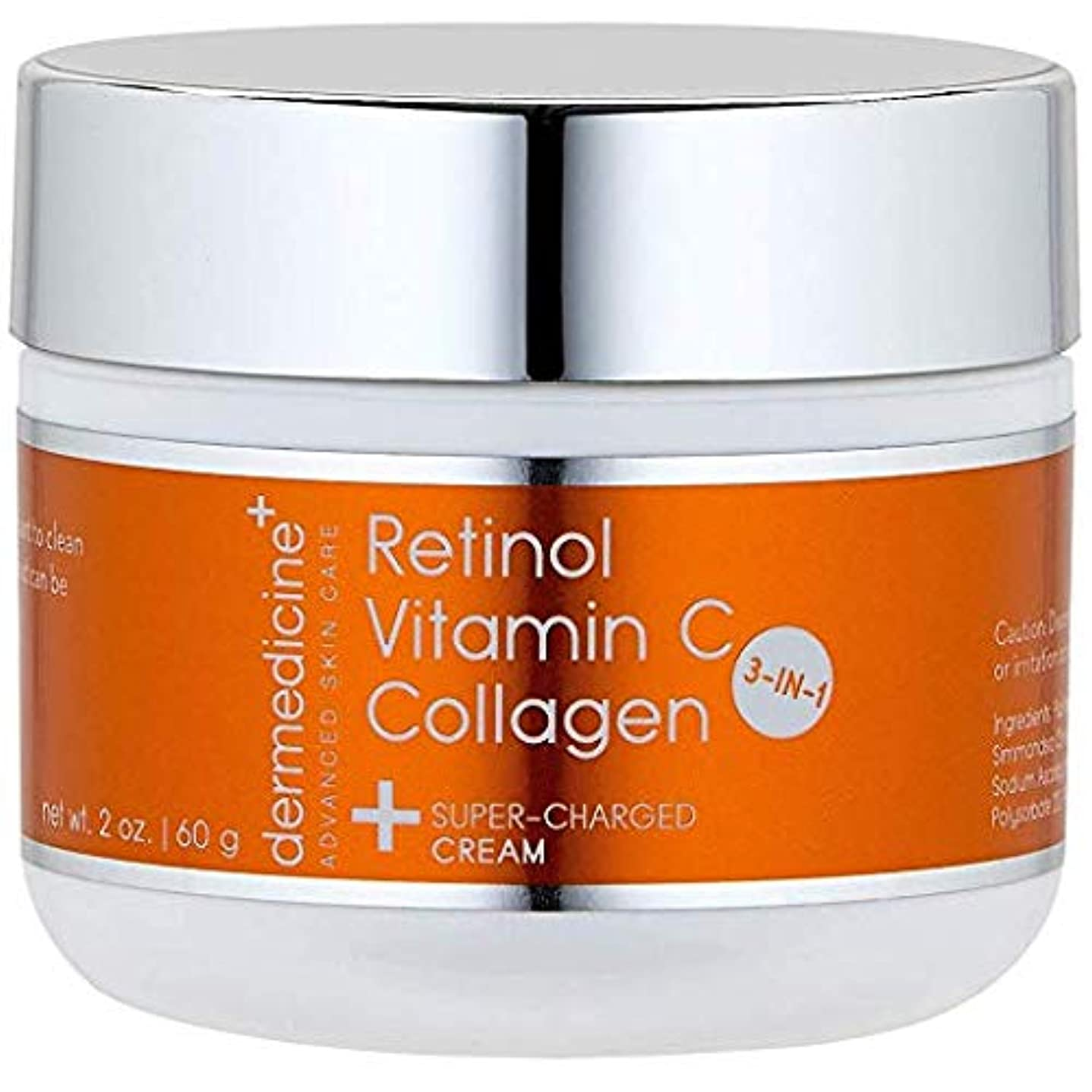 ダイヤル偶然のホットプレミアム エイジングケアクリーム【3IN1】 コラーゲン+レチノール+ビタミンC配合 60g シミ取り&シワ取り ほうれい線を取り、顔のリフトアップも(若々しい弾力のある肌へ)
