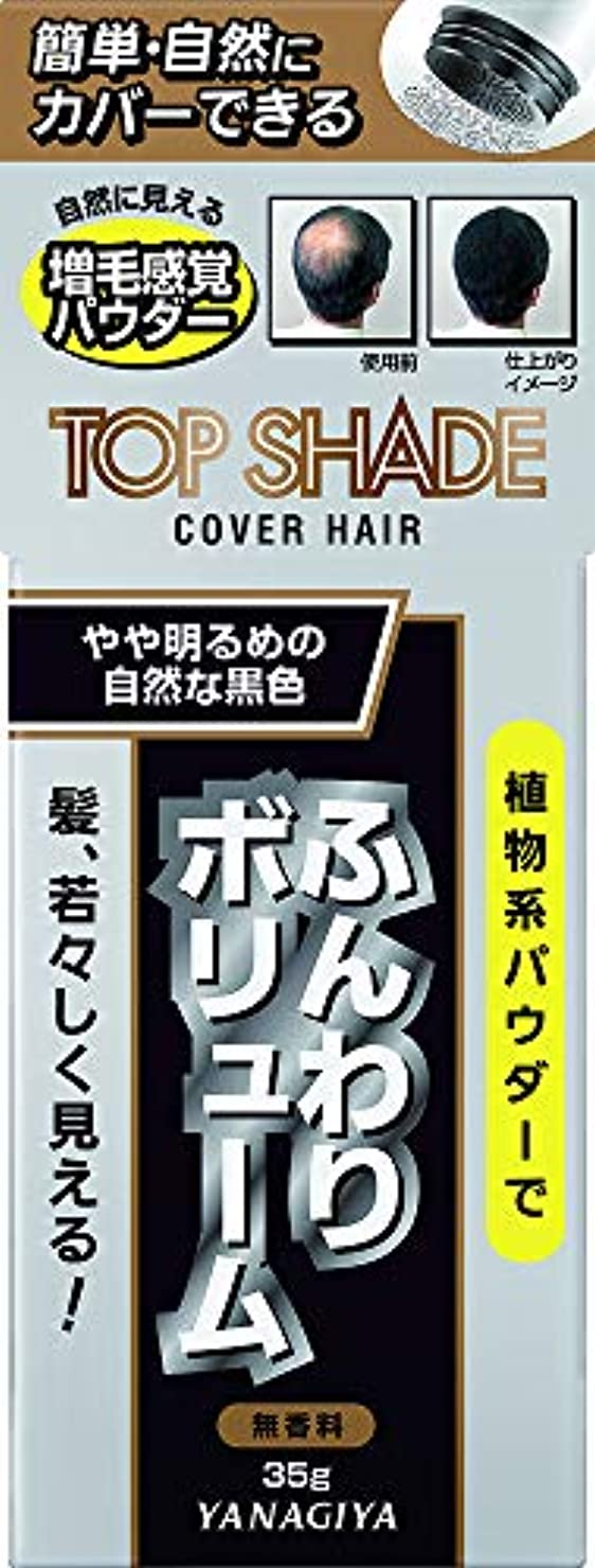 テキスト静けさ落花生トップシェード カバーヘアー <やや明るめの自然な黒色> 35g