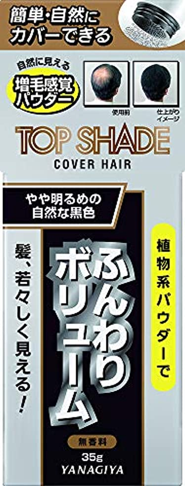 メイド製作上向きトップシェード カバーヘアー <やや明るめの自然な黒色> 35g