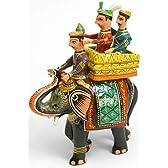 【インドとアジア雑貨】 マハラジャと象【大】